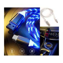 LED Lighting Világító USB-C gyorstöltő kábel kék GZ16399B