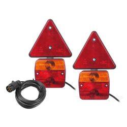 Utánfutó Pótkocsi hátsó világítás Komplett lámpa készlet MA304