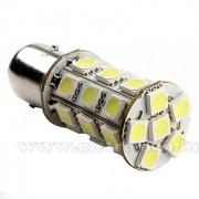 Autós LED izzó BA15S, 27SMD LED-es, fehér, MM-BA15-27SMD5050F