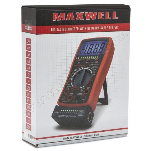 Digitális multiméter és kábelteszter Maxwell 25331