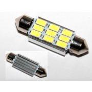 Autós szofita LED izzó, 9 db SMD LED-del, Can-Bus, 41 mm, MM-41MM9SMD5730