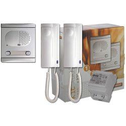 Komplett 2 lakásos kaputelefon szett, Golmar 4220/AL