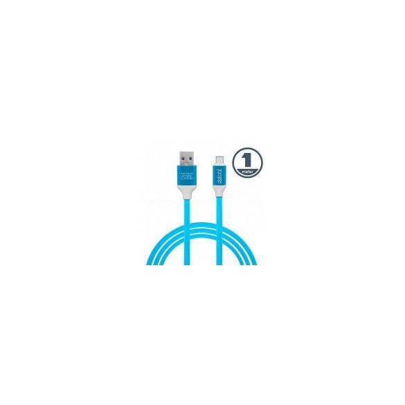 USB / USB-C telefontöltő és adatkábel 1 m kék 55436B