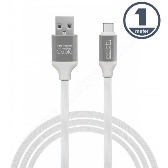 USB / USB-C telefontöltő és adatkábel 1 m fehér 55436W