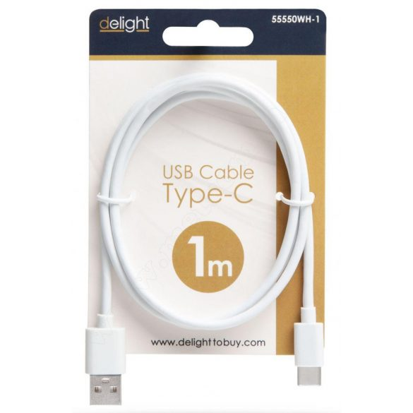 USB / USB-C telefontöltő és adatkábel 1 m 55550WH-1