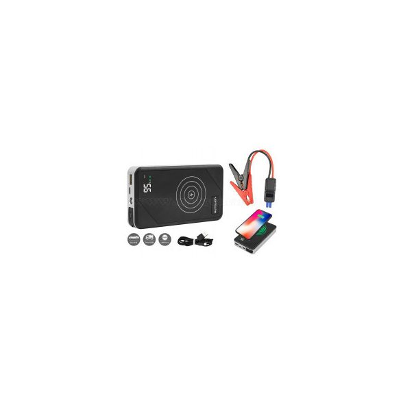 Autós indításrásegítő hordozható akkumulátor vezeték nélküli telefon töltő 81ALW01