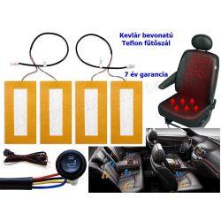 Teflonszálas beépíthető autós ülésfűtés Kiyo AWHL-Teflon-Kevlár