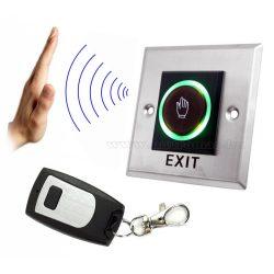 Érintés nélküli ajtó nyitó kiléptetőgomb távirányítóval beléptető rendszerekhez MCMK1AB-R-EXIT