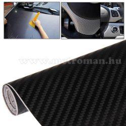Autó fólia, 3D fekete Karbon fólia, 127 X 100 cm