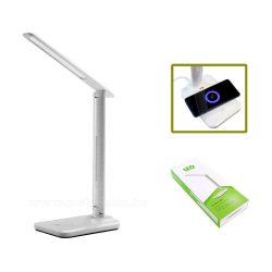 LED-es asztali lámpa vezeték nélküli telefontöltővel MD47C-LED