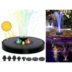 Úszó napelemes kerti szökőkút LED világítással MD70G-RGB-Solar