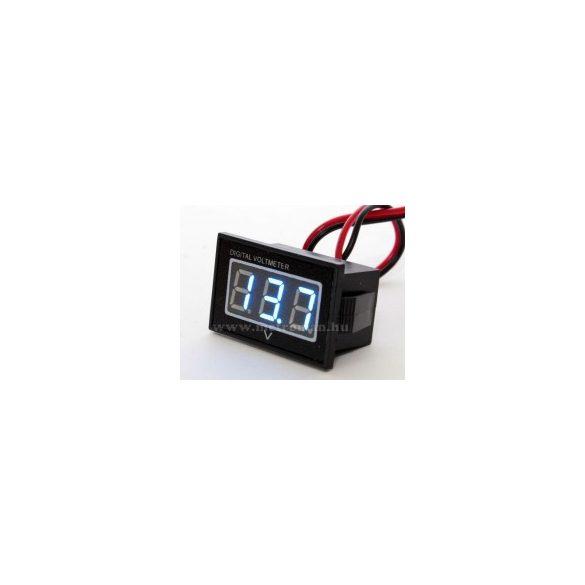 Digitális  feszültségmérő, vízálló, 3-30 Volt DC, Mlogic DC277B
