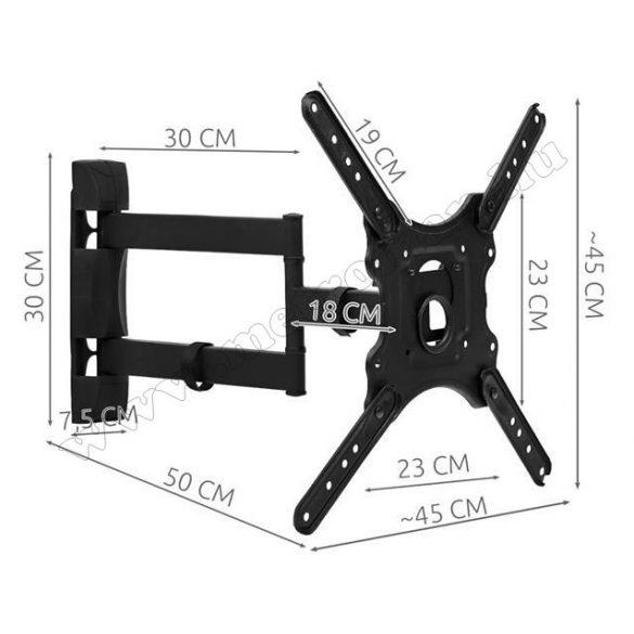 LCD, LED TV tartó, fali tartókonzol DF400