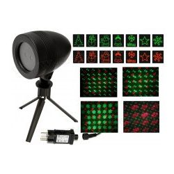 Kültéri színes Karácsonyi Lézer fény projektor, kerti hangulat világítás MDL IP8