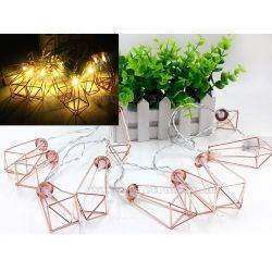 Elemes LED lámpás dekor fényfüzér 10LD-RoseGold