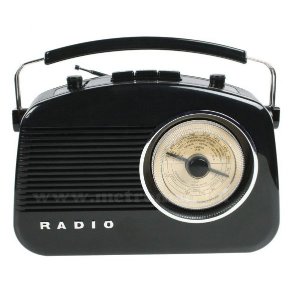 Retró rádió, fekete színű, König HAV-TR710BL