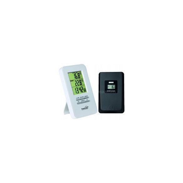 Vezeték nélküli külső-belső hőmérő ébresztőórával HC-11
