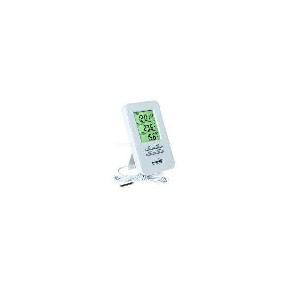 Vezetékes külső-belső hőmérő órával HC-12
