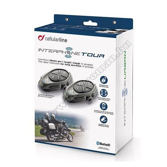 Motoros Bluetooth kihangosító és headszett, Interphone TOUR Twin Pack