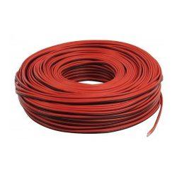 Hangszóróvezeték 2 x 0,75 mm2 piros-fekete 100 méteres