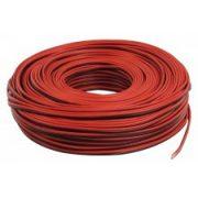 Hangszóróvezeték 2 x 1,5 mm2 piros-fekete 100 méteres