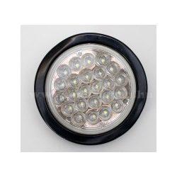 Autós, kör alakú, 12/24 Voltos LED lámpa, fehér, LA-564W