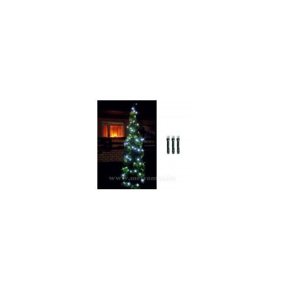 Karácsonyi kültéri LED égősor, Fényfüzér,  LED 108/WH Hideg fehér