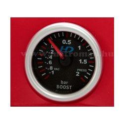 Autós sportműszer, turbo nyomás mérő, LED7707BK