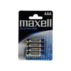 MAXELL alkáli, AAA mini ceruza elem, 1,5 V-os LR03-4