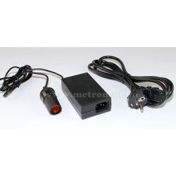 Adapter, hálózati tápegység szivargyújtó aljzattal, 230/12V, 5 Amper, G74