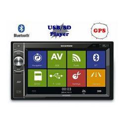 Macrom M-DL5000 USB/SD Bluetooth 2DIN LCD GPS Autó rádió, multimédia fejegység