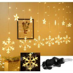 Karácsonyi LED fényfüzér csillag és hópehely M1326LED