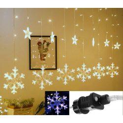 Karácsonyi LED fényfüzér csillag és hópehely M1327LED