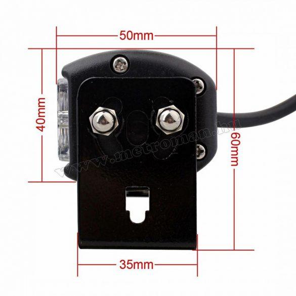 Autós kapcsolható színű Kék-Piros vagy Fehér LED villogó, megkülönböztető jelzés M2881