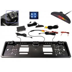 Autós univerzális rendszámtábla tolatókamera tolatóradarral, Mlogic MM4822LED