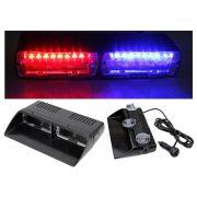 Autós Piros-Kék stroboszkóp LED villogó szélvédőre, Mlogic M5390RB