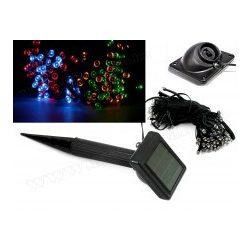 Napelemes Karácsonyi LED égősor, Kerti Fényfüzér, Kültéri, M7615/100M Színes