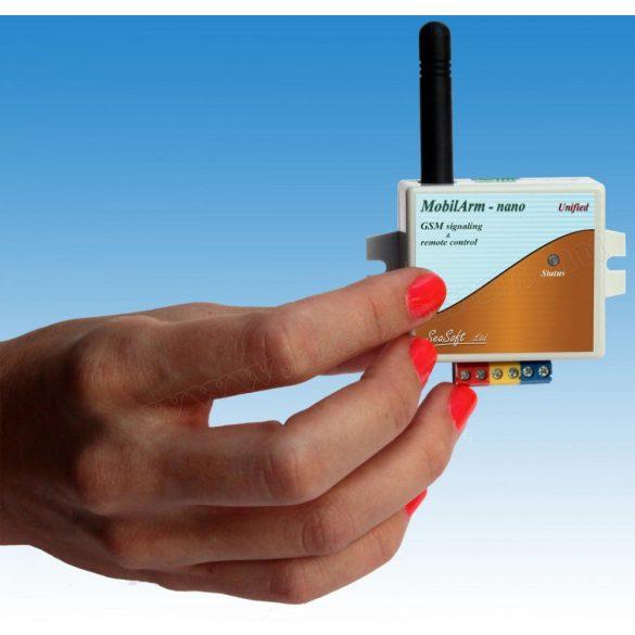 Mini GSM hívó és riasztó modul, MobilArm-Nano
