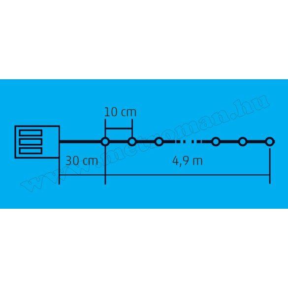 Micro LED-es elemes fényfüzér ML 50/WW
