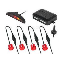 Tolatóradar Extra szenzorral, LED kijelzővel MM-0104R Piros
