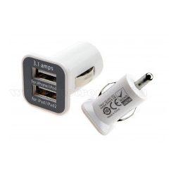 Mini autós szivargyújtó USB töltő 3,1 Amper  MM1026