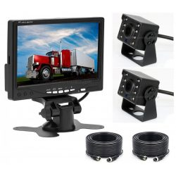 """Kétkamerás tolatókamera szett 7""""-os LCD monitorral MM1102 12/24 Volt"""