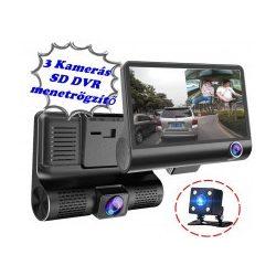 Autós három kamerás DVR menetrögzítő és tolató kamera, Mlogic M336 FHD