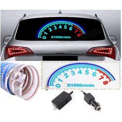 Autó Decor LED fényeffekt fólia hátsó ablakra MM5886