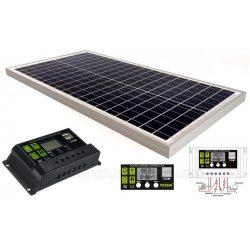 12V 30 Watt napelemes töltő szett töltésvezérlővel Poly Solar MP-30W-10A-PWM