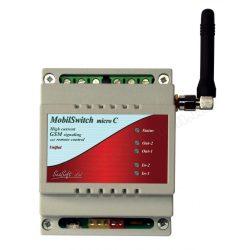 GSM hívó és GSM távirányító modul, MobilSwitch-Micro-C DIN Sin