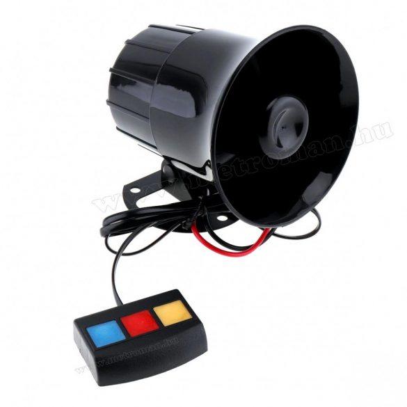 Elektronikus 3 hangú sziréna, 30 W MS022-1