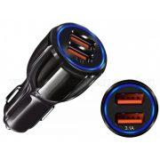 Autós szivargyújtós USB töltő 12/24 V-os MS34D