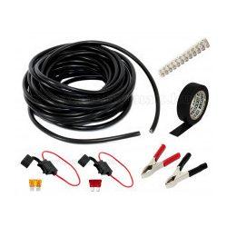 Napelem kábel és szerelési csomag gumi szigetelésű kábellel