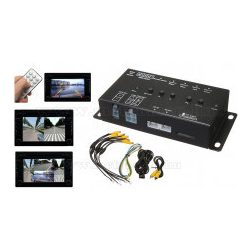 Autós SD kártyás DVR felvevő és panoráma tolatókamera modul MT313-4CH-DVR